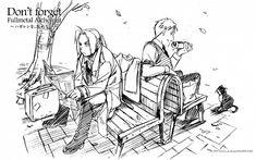 Edward and Alphonse Elric- Fullmetal Alchemist Brotherhood Manga Anime, Manga Art, Anime Art, 鋼の錬金術師 Fullmetal Alchemist, Fulmetal Alchemist, Vocaloid, Elric Brothers, Hiromu Arakawa, Alphonse Elric