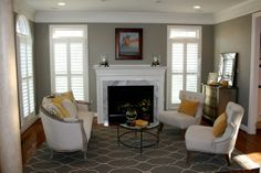living rooms, rockport gray, paint color combinations, sitting rooms, paint colors, master bedrooms, live room, benjamin moore, gray paint