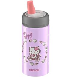 SIGG Kids' Water Bottle with Active Top, fl oz in Hello Kitty * Find out more about the great product at the image link. Healthy Lunches For Work, Healthy Toddler Meals, Healthy Kids, Work Lunches, Toddler Food, Fancy Water Bottles, Bike Water Bottle, Hello Kitty Bike, Running Accessories