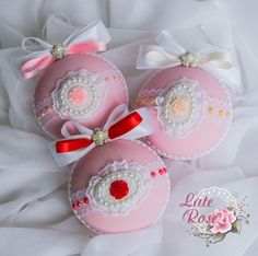 """Купить СКИДКА!!! Шар ёлочный """"Нежность"""" - розовый, Новый Год, елочный шар, елочные игрушки"""