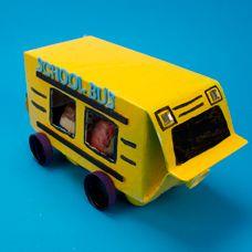 School Bus Craft Egg Carton