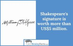 History Facts : Shakespeare's signature | did you know
