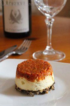 Philo aux fourneaux: Cheesecake à la tapenade & aux tomates confites