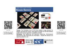 Booze Barons Prototype Box Back