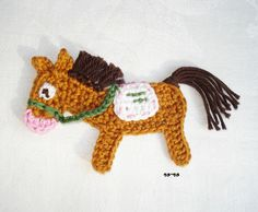 Pferd von HÄKELAPPLİKATİONEN by rosenpracht auf DaWanda.com