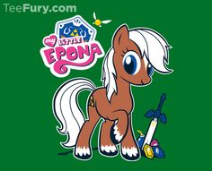 My Little Epona today only at TeeFury.com!