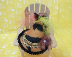 Mini Hat Hair Clip / Hair Accessory / Party by PrincessInDreams