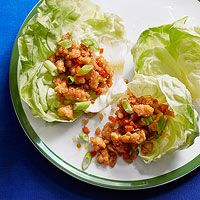 Asian Chicken Lettuce Cups, add some heat by serving the lettuce cups with sriracha for drizzling