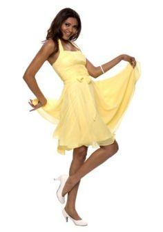 Gelbes Kleid bis kurz über das Knie. #sexy