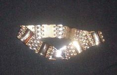 vintage gold colored linked 7 inch bracelet NR #Unbranded #Statement