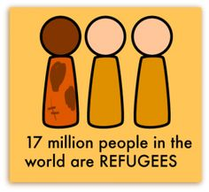 17 million people in the world are REFUGEES