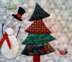 christmas+tree+quilt+pattern | Snowman and Christmas Tree Quilt Block Pattern | Christmas Quilts