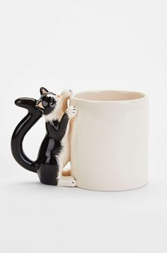 Plum & Bow Climbing Cat Mug- Black & White One from Urban Outfitters #cup #cat #cute #loveit