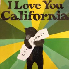 I Love You CA  #california #love #bear