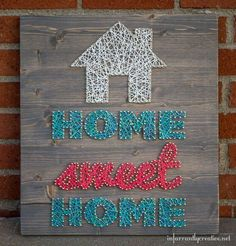 Home Sweet Home String Art by @infarrantlyc | DIY String Art