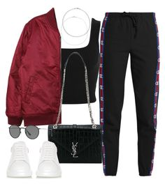 """""""Sin título #2771"""" by camilae97 ❤ liked on Polyvore featuring Vetements, Miss Selfridge, Stussy, Yves Saint Laurent, Alexander McQueen and Ray-Ban"""