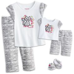 Matching pjs for bitty baby and Molly!!