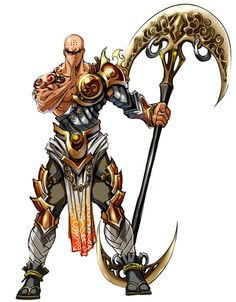 Fantasy Monk Staff Weapons: buddhist shovel and