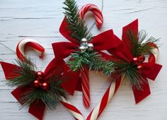 Candy Cane Crafts: 14 Homemade Christmas Ornaments and Candy Cane Decorations   Decorate your house with these!