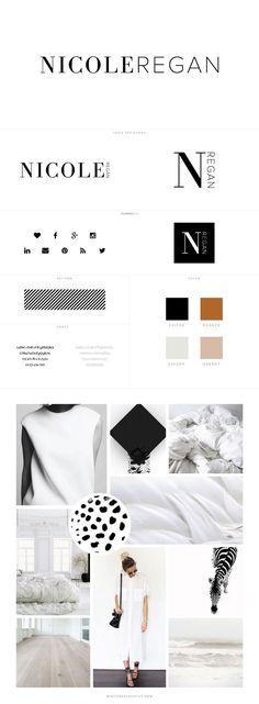 Nicole Regan Branding + Web Design by White Oak Creative - logo design, wordpress theme, mood board inspiration, blog design idea, graphic design, branding
