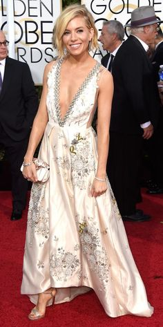 Sienna Miller's wavy bob hairstyle at the Golden Globes 2015 | Style | Life & Style | Daily Express