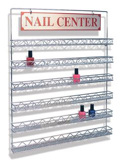 Ah! I need to do this! Nail polish organizer using a hanging spice rack :)