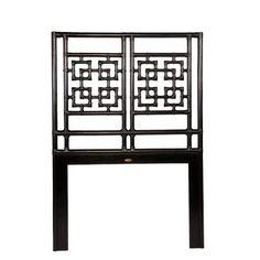 David Francis Furniture Palm Springs Open-Frame Headboard Size: Twin, Finish: Satin Black