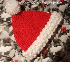 Ravelry: Baby Santa Hat Crochet Pattern USA pattern by ShiFio's Patterns