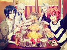 Iori, So, Tamaki et Riku Handsome Anime Guys, Cute Anime Guys, All Anime, Me Me Me Anime, Anime Manga, Anime Art, Anime Boys, Cute Games, Kawaii