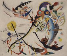 Wassily Kandinsky, Segment bleu (1921, huile sur toile, New York, Solomon R…