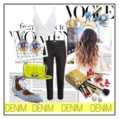 """""""Denim I."""" by veronika235 ❤ liked on Polyvore featuring H&M, Rebecca Minkoff, Aquazzura and Guerlain"""