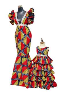African Dresses For Kids, Latest African Fashion Dresses, African Dresses For Women, African Print Dresses, African Print Fashion, Africa Fashion, African Attire, Girls Dresses, Modern African Fashion