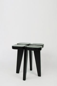 © Lisa Johansson-Pape. Stool, black lacquered pine wood, for Stockmann AB, Finland 1950s. sold by Pamono
