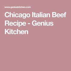 Chicago Italian Beef Recipe - Genius Kitchen