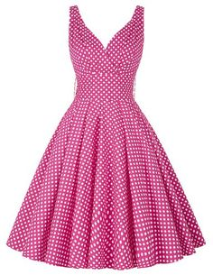 Amazon.com: PAUL JONES Womens Polka Dots Vintage Party Dress Color B(3XL): Clothing