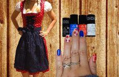 Oktoberfest - Naildesign - Dirndl -Nägel Nail Art, Summer Dresses, Fashion, Dirndl, Oktoberfest, Moda, Summer Sundresses, Fashion Styles, Nail Arts