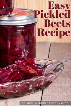 Recipe for Pickled Beets that is quick and easy to make. Canning instructions or store pickled beets in mason jars in the refrigerator. #canning #beets #recipe #pickles #pickledbeets Canning Tips, Canning Recipes, Jar Recipes, Cooker Recipes, Recipe Ideas, Canning Pickles, Canning Beets, Beet Recipes, Real Food Recipes