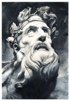 Five minutes - flight is normal! on Behance Plaster Sculpture, Roman Sculpture, Sculpture Art, Hades Tattoo, Zeus Tattoo, Greek Mythology Tattoos, Greek Mythology Art, Ancient Greek Sculpture, Ancient Art