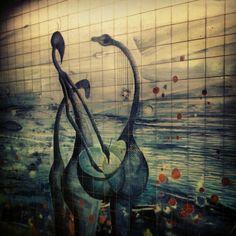 Kunst in der #Metro #Lissabon #oriente - @bloginfo- #webstagram