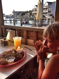 Clams = Happy Girl! Photo by Margaret Feno