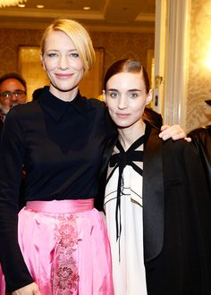 Cate Blanchett and Rooney Mara attend the BAFTA Los Angeles Awards Season Tea at Four Seasons Hotel Los Angeles at Beverly Hills on January 9, 2016 in Los Angeles, California.