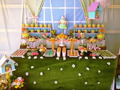 Complete desert table set-up, created by Niknaks Sweetest Treats. Click on the photo to see the full photo album and other creations by Niknaks Sweetest Treats on Facebook!