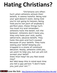 Hating Christians? https://www.pinterest.com/holyheretics/hating-christians…