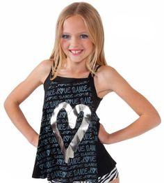 Sadie Jane Dancewear - Black Love Dance Tank with Silver Heart, $24.00 (http://www.sadiejane.com/black-love-dance-tank-with-silver-heart/)