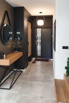 Foyer Design, Hallway Designs, Home Room Design, Interior Design Living Room, Interior Decorating, Corridor Design, Hall Interior, Luxury Bedroom Design, Condo Design