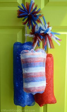 Party Ideas by Mardi Gras Outlet: Dynamite Deco Mesh Firecrackers: Tutorial