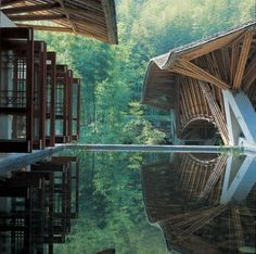 The Crosswaters Ecolodge, in China a proyect by Simon Velez, a Colombian Architect, specialized in the use of Guadua.