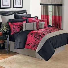 Asian Flower Mini Comforter Set 64