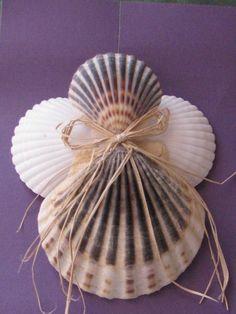 shell ornaments   Shell Angel Ornaments