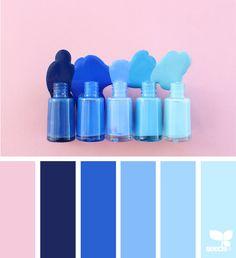 Design Seeds + Color Atlas by Archroma® Blue Colour Palette, Colour Schemes, Color Patterns, Color Combos, Design Seeds, Sky Design, Blue Design, House Paint Color Combination, Color Collage